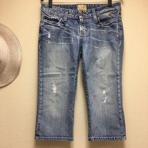 BKE Denim Cropped Sz 30 Below Knee Jeans Distress